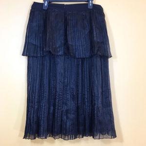 ASOS Skirts - NWT ASOS Black Layered Pleated Skirt